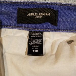 Express Jeans - Express Mid Rise Ankle Legging Jeans Sz 14